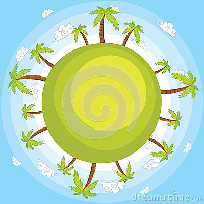 Earth with blue sky vector illustration