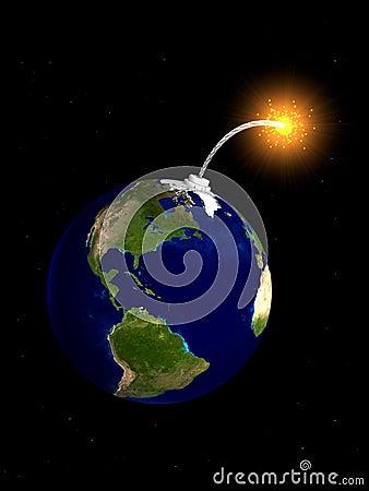 Free Earth Bomb Royalty Free Stock Photo - 1481795