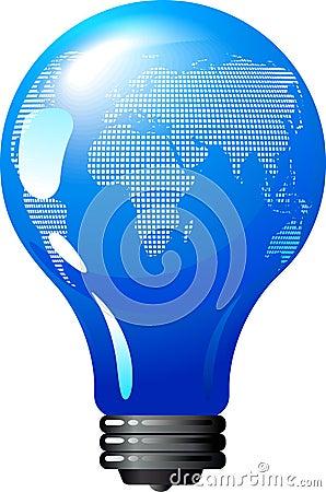 Earth bulb - eco energy concept
