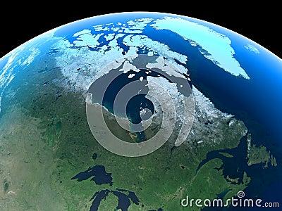 Earth - Canada & Greenland