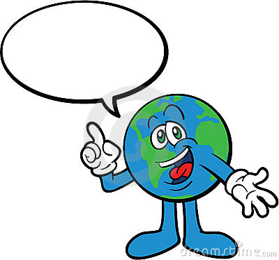 Earth Cartoon Mascot Character Talking