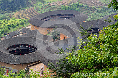 Earth Castle in countryside of Fujian province, South China