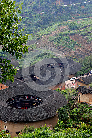Earth Castle, featured Chinese residence, in countryside of South China Editorial Image