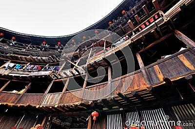 Earth Castle residence, Fujian, China Editorial Stock Photo
