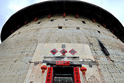 Earth Castle tower, Fujian, South of China Editorial Photography