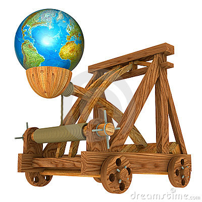 Earth and catapult