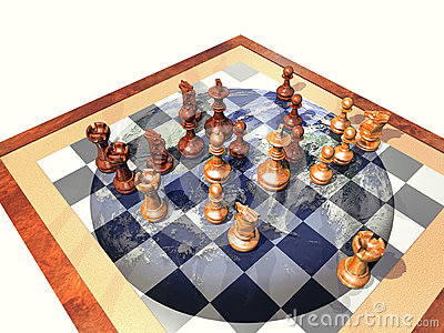 Earth chess game
