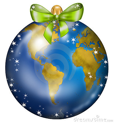 Earth Christmas ball 2