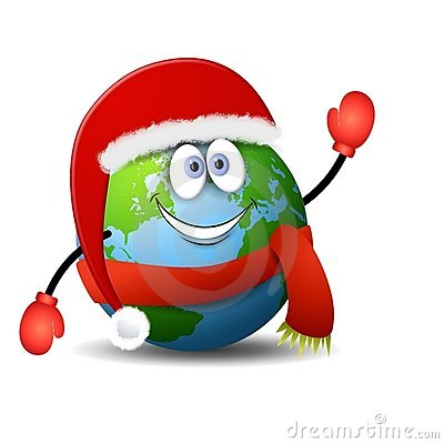 Earth Christmas Cartoon