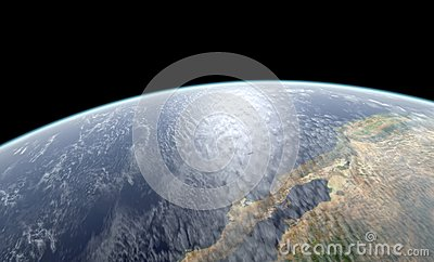 Earth close-up rendering