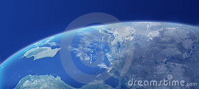 Earth Closeup With Atmosphere