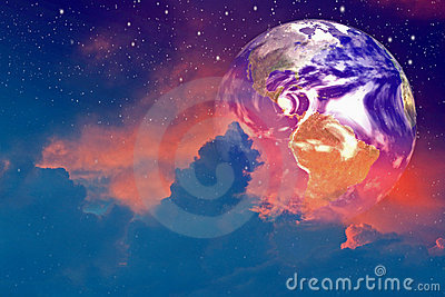 Earth In The Clouds Stock Images - Image: 3419174