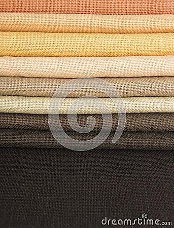 Earth colors fabrics
