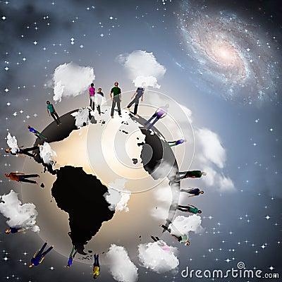 Earth crowd
