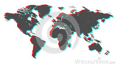 Earth 3d. Vector image. Stock Photo