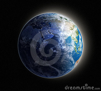 Earth at dawn