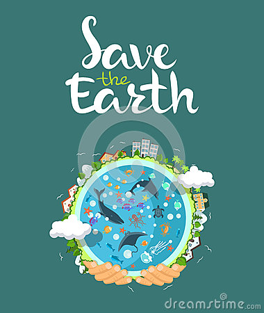 Free Earth Day Concept. Human Hands Holding Floating Globe In Space. Save Our Planet. Flat Style Vector  Illustration Royalty Free Stock Photos - 69776158