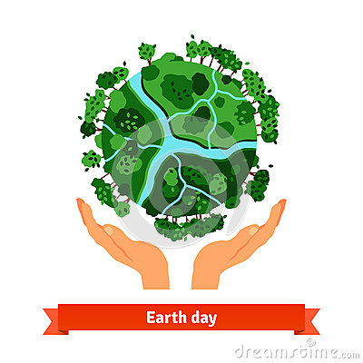 Free Earth Day Concept. Human Hands Holding Globe Stock Photos - 62494393