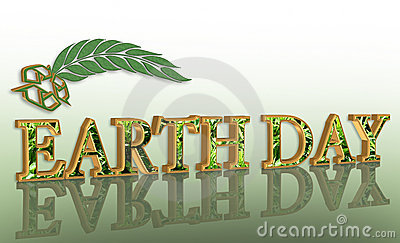 Earth day graphic 3D recycle
