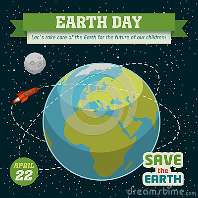 Earth day holiday poster Vector Illustration