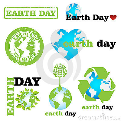 Free Earth Day Logos Royalty Free Stock Photo - 22986175