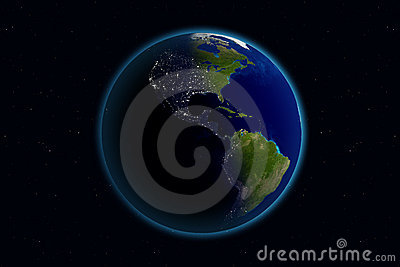 Earth - Day & Night - America