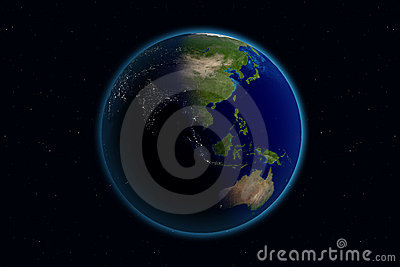 Earth - Day & Night - Asia