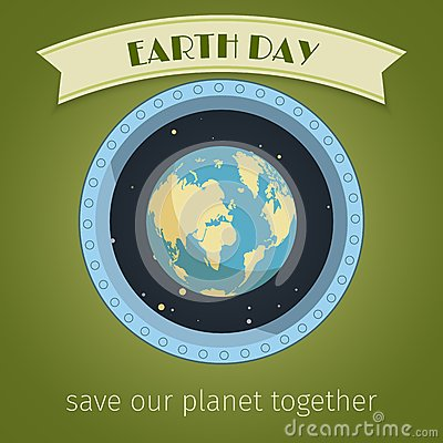 Earth day poster Vector Illustration
