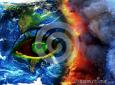 Earth doomed photo collage