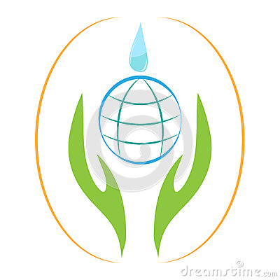 Earth drop hands, save earth, save water, save environment