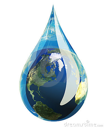 Free Earth Droplet Royalty Free Stock Images - 6527909