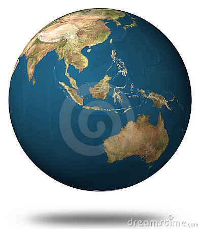 Earth (East asia and Australia view)