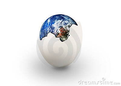 Earth in egg