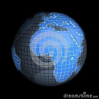 Earth, focus on europe