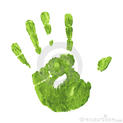 Earth Friendly Handprint