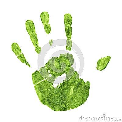Earth Friendly Handprint