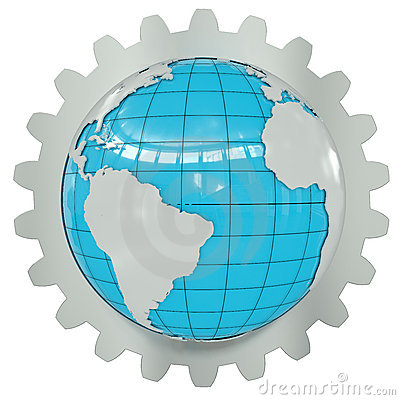 Earth of the gear wheel