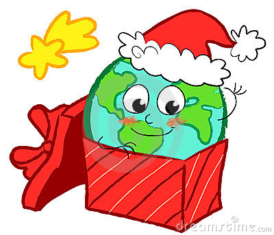 Earth in gift box