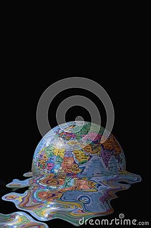 Earth global meltdown