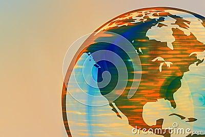 Earth Globe 1 (north america)