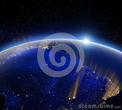 Free Earth Globe At Night. Elements Of This Image Furnished By NASA Stock Photo - 94664030