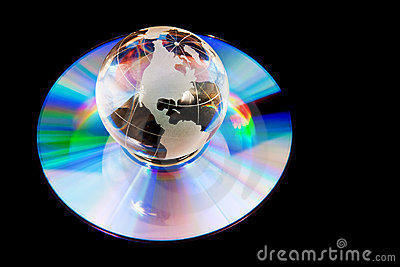 Earth globe on compact disk