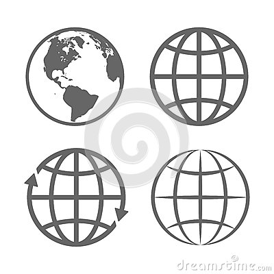 Free Earth Globe Emblem. Logo Template. Icon Set. Vector Stock Images - 63275614