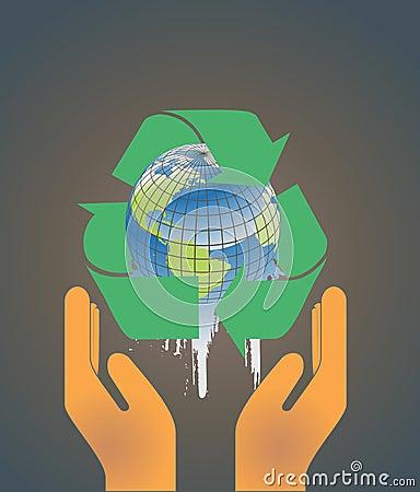Earth globe environment concept