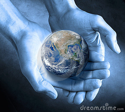 Earth Globe Hands Sustainable