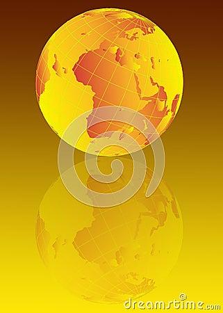 Earth globe illustration