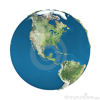 Earth globe, isolated on white