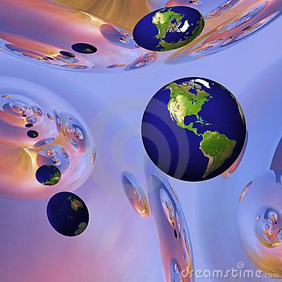 Earth Globe in Surreal Environment