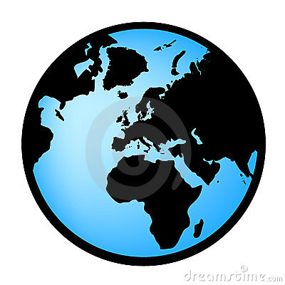 Earth globe in vectorial format