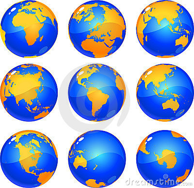 Free Earth Globes Stock Image - 6755461